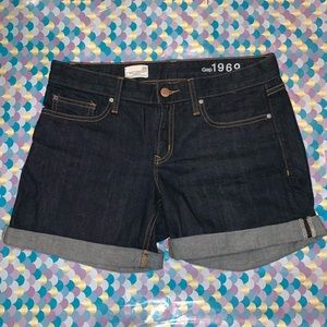 Gap Real Straight Shorts Cuffed Jeans Mid Rise